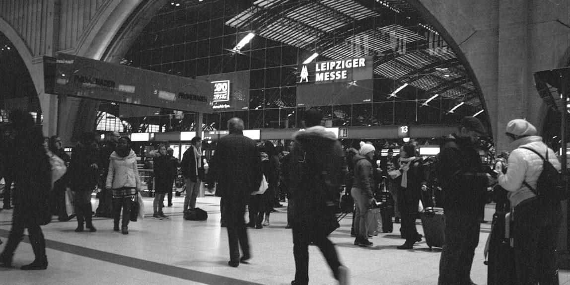 Kodak TriX 400, EI1600, analog, Mittelformat, Leipzig, Bahnhof